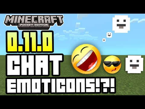 Minecraft Pocket Edition 0.11.0 UPDATE CHAT EMOTICONS + SCREENSHOT + MORE