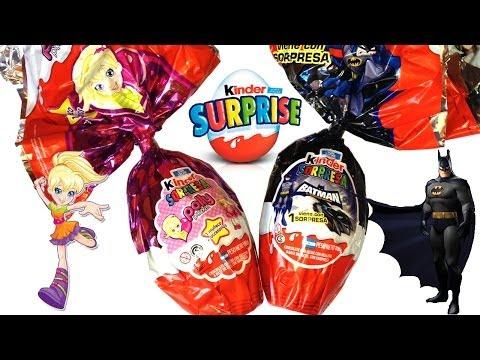 Easter Eggs Polly Pocket Doll Marvel Heroes Batman Kinder Surprise Surprise Eggs