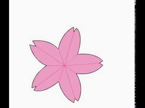 оригами цветок вишни