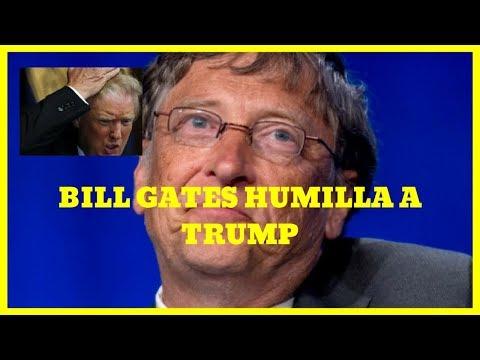 Donald Trump Humillado por Bill Gates-Donal Trump no sabe la DIFERENCIa entre VIH y VPH