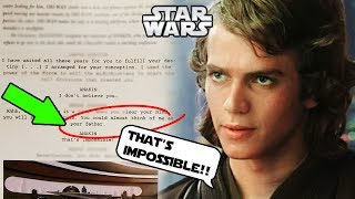 ANAKIN'S FATHER REVEALED IN ORIGINAL SCRIPT OF REVENGE OF THE SITH!!! - Star Wars Explained
