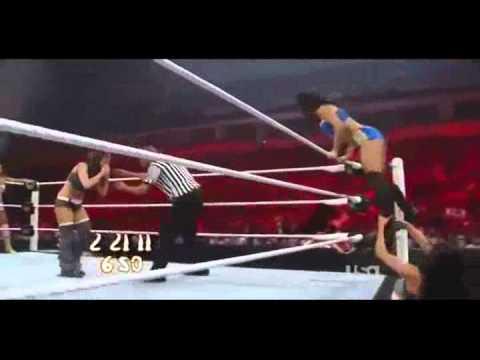 WWE Diva Brie Bella-Pulling Down (to Gail Kim)