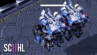 EPIC LATEGAME MECH VS ZERG - Starcraft 2: Special vs Cham