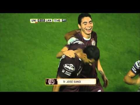 Lanús goleó 4 a 0 a Unión en Santa Fe y quedó como único líder de la zona 2