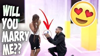 My First Date With My Old High School CRUSH... I PROPOSED!! (She said...)
