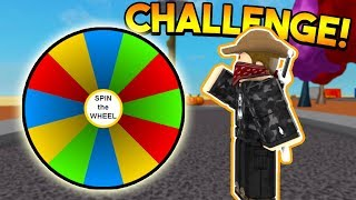 SPIN THE WHEEL CHALLENGE! | ROBLOX: Super Power Training Simulator