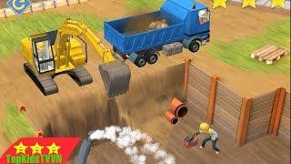topkidstvvn-Máy xúc hoạt hình 3D-Excavator for kids