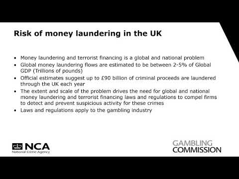 Gambling Commission & National Crime Agency (NCA) - Submitting Quality SARs video 1 of 5