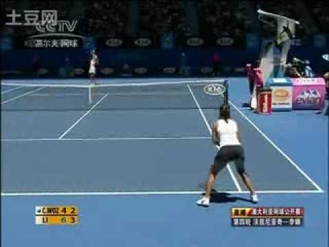 Li Na vs Caroline Wozniacki AO Australian Open 2010 Highlights part 2