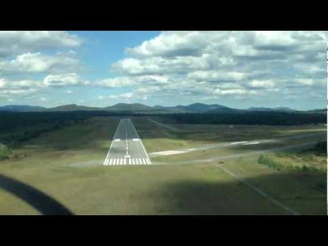 Cessna N738JD landing at Saranac Lake NY
