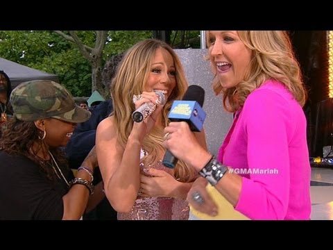 "Mariah Carey Wardrobe Malfunction 2013: Singer Jokes During NYC ""GMA"" Concert 'Saga'"