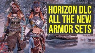 Horizon Zero Dawn DLC ALL THE BEST ARMOR SETS (Horizon Zero Dawn Frozen Wilds Armor - Horizon DLC)