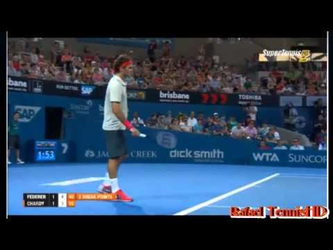 Roger Federer vs Jeremy Chardy ATP Brisbane International 2014 Highlights-SF