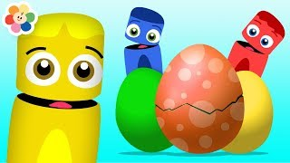 Learning Colors For Children With Color Crew | Surprise Eggs & Kids Songs | Educational by BabyFirst