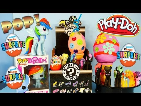 Play Doh Kinder Surprise Eggs Toys Opening My Little Pony Mystery Minis Toy Full Collection Unboxing video