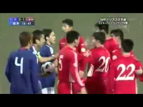 North Korea disturbs a Japanese national anthem by booing.