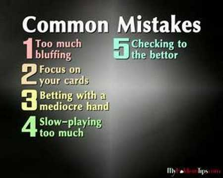 Texas Holdem common mistakes
