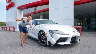 COLLECTING My Brand New 2020 Toyota GR Supra!!