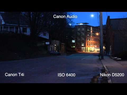 Canon T5i/T4i(650D) & Nikon D5200 Low Light - High ISO test