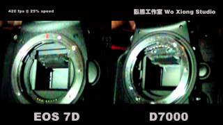 Moment of Shutter Release: 7D VS D7000