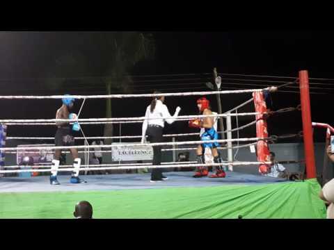 Ghana Kickboxing.  Isaac Aikins(15)