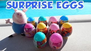 10 Surprise Eggs Spiderman, Disney Princess, Minnie Mouse and Super Mario Toys