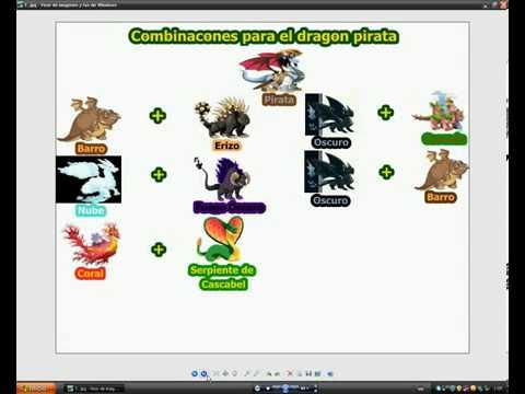 Combinaciones Dragon City Chicle Futbolista Fuego Fresquito Armadillo  Petroleo Pirata y caca