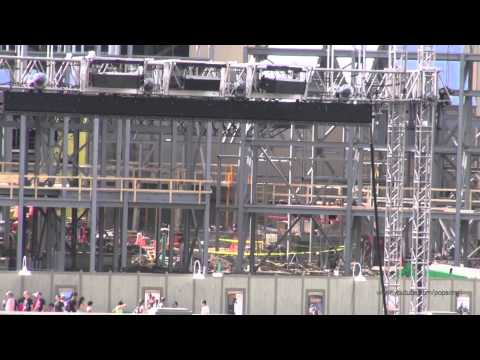 The Wizarding World of Harry Potter Expansion Construction Update April 30th 2013 Universal Orlando