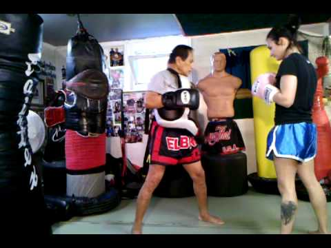 Punch, Kick Combo and Pushkick - Master K Muay Thai Image 1