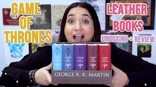 Game of Thrones Leather Boxed Set Unboxing and Review | GeekGlitz