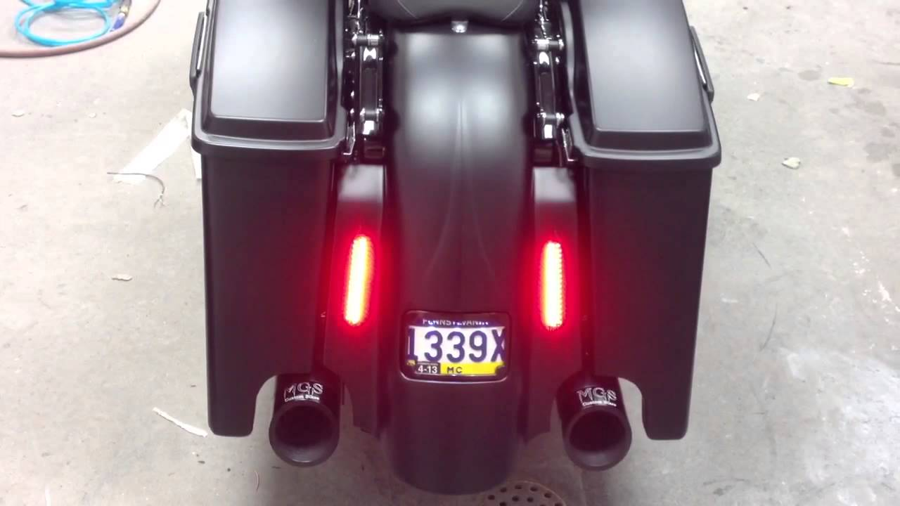 Sinister Bagger Parts And Taillight Demo On Harley