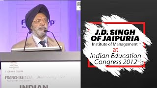 J D  Singh of Jaipuria Institute of