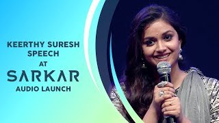 Keerthy Suresh Speech | Sarkar Audio Launch