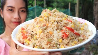 Yummy cooking steamed rice with vegetable recipe - Cooking skill