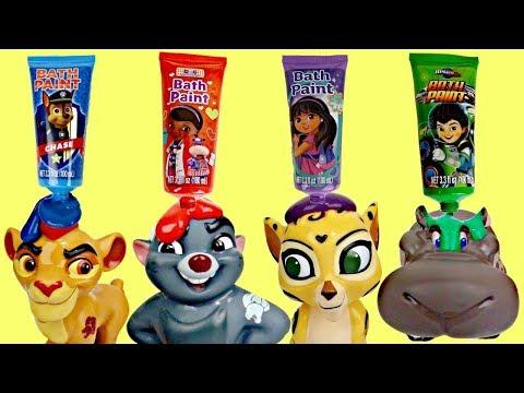 Disney Jr. LION GUARD Finger Bath Paint and Paw Patrol