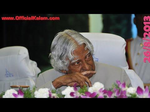 Dr. A.p.j. Abdul Kalam At Research Centre Imarat (rci), Hyderabad, Aug 26 2013 video