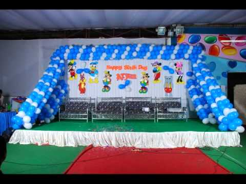 Birthday Party Stage Decorations Banjarahills YouTube