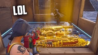 I Stole his GUNS without him realising... (FUNNY) Fortnite