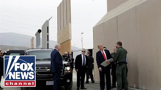 President Trump previews border wall prototypes