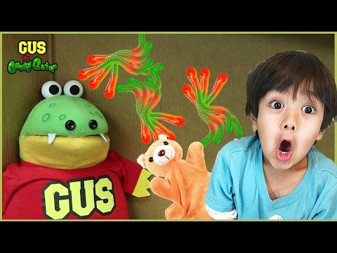Gus goes to Ryan's House from Ryan ToysReview with Surprise Toys
