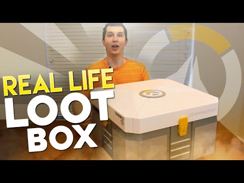 Real Life Overwatch Loot Box Opening! (Gift Unboxing From Blizzard & Coke eSports)