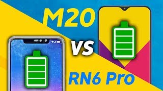 Samsung Galaxy M20 vs Redmi Note 6 Pro Battery Test!