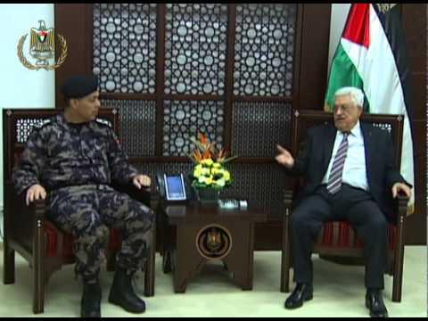 President Abbas Meets Commanders of Civil Defense Led by Brigadier General Mahmoud Issa