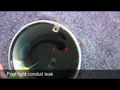 Pool light conduit leak youtube - Inground swimming pool light fixture ...