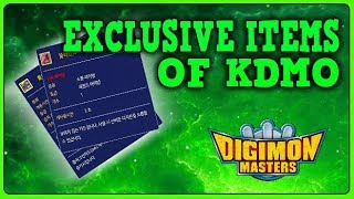 EXCLUSIVE ITEMS OF THE KOREAN VERSION || Digimon Masters Online