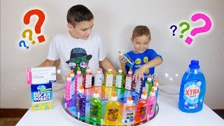 3 COLORS OF GLUE SLIME CHALLENGE !!! - Swan VS Néo *ré-upload*