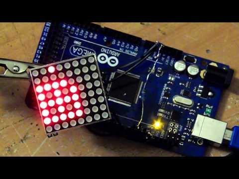 Led Matrix Max 7219 + Flowcode v6 + Arduino Mega 2560