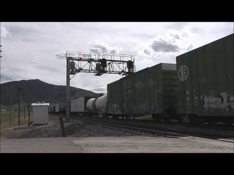 UPRR merchandise train at Bancroft ID.wmv