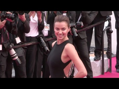 Irina Shayk on the red carpet for the Premiere of La Fille Inconnue in Cannes