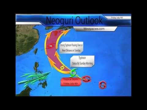 Typhoon Neoguri rapidly strengthening with threats to Japan